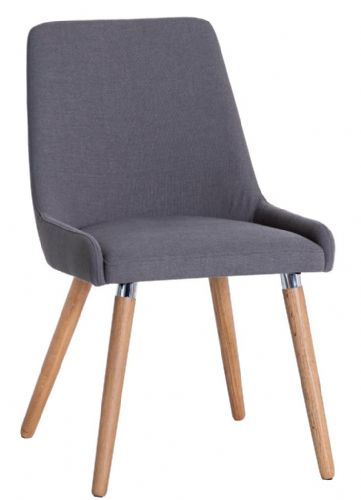Pair of Scandia Grey Retro Style Dining Chairs